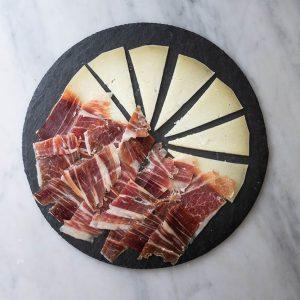 Ración mixta de jamón ibérico y queso manchego
