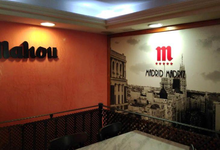 Taberna Restaurante Madrid Madriz entrada Mahou en tribunal